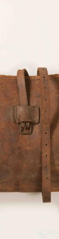 Leather bedroll cover
