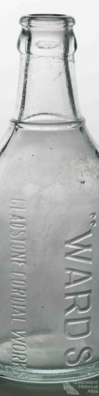 Wards Gladstone Cordial Works glass bottle