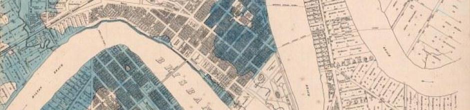 Flood Map City of Brisbane, 1893
