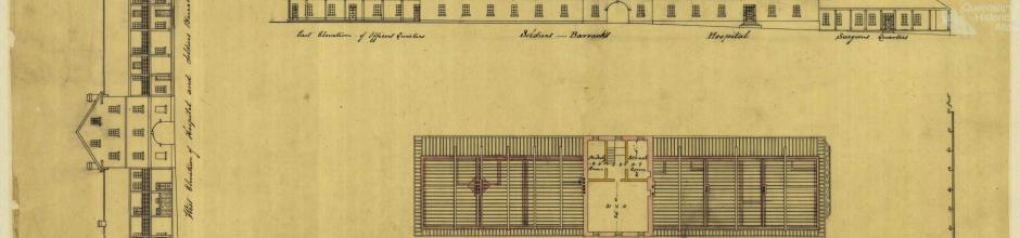 Prisoners barracks, Moreton Bay, 1839