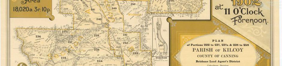 Durundur Estate Map (Mount Kilcoy), 1902