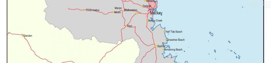 Mackay radio licence area, 2005