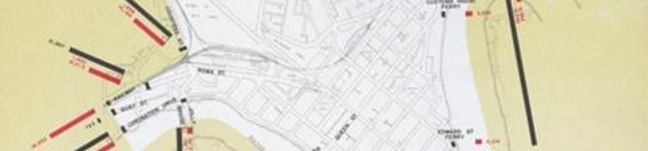 Brisbane public transport map, 1968