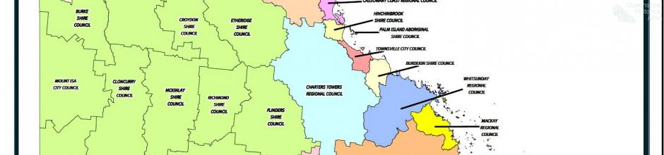 Queensland local government boundaries, 2008