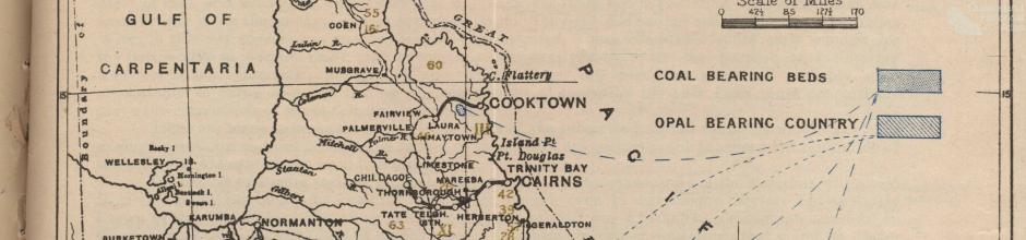 Proclaimed gold fields and mining districts, Queensland