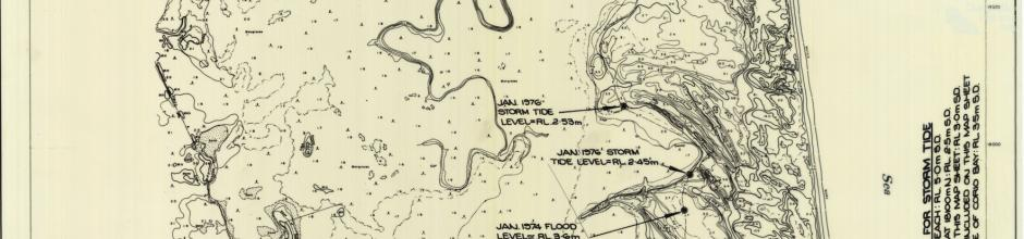 Farnborough (Iwasaki) resort, surge and flood levels, 1976, sheet 1