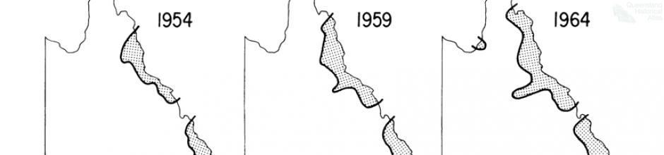 Geographical expansion of Bufo marinus in Queensland, 1981