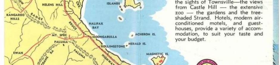 Tourist map, Townsville and District, c1960
