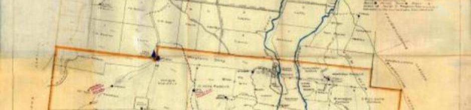Paddock map of Tinnenburra, 1924