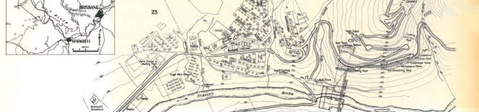 Township and works at Somerset Dam, 1937