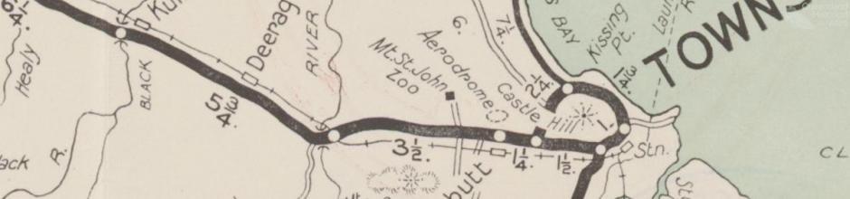Map, RACQ Townsville tourist district map, c1950