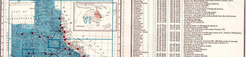 Key to Queensland four mile map series, 1915