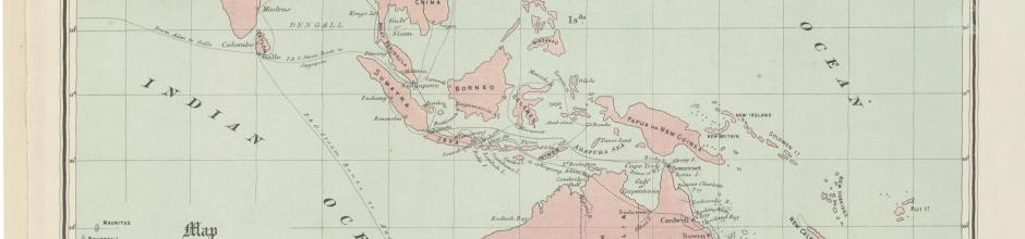 Map showing position of Queensland to the Australian Colonies, India, China &c