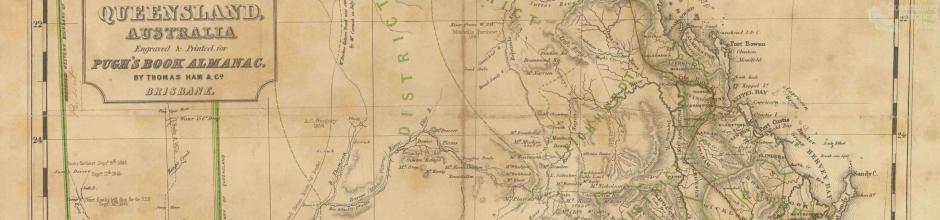 Pugh's Book Almanac, map of Queensland, 1862