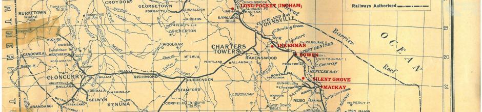 Proposed Queensland sugar mill locations, 1923