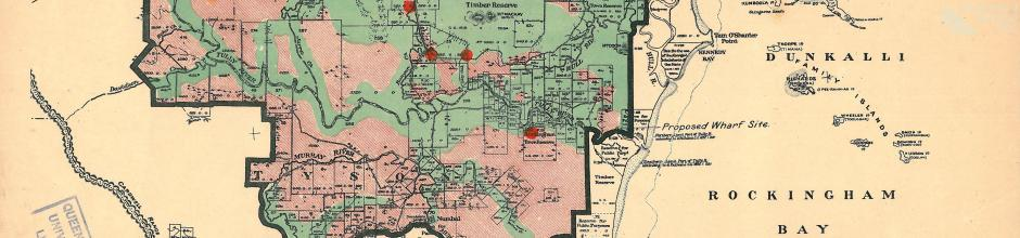 Proposed sugar mill sites, Tully and Banyan area, 1923
