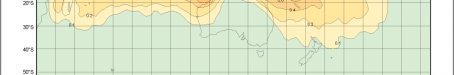 Average annual number of tropical cyclones