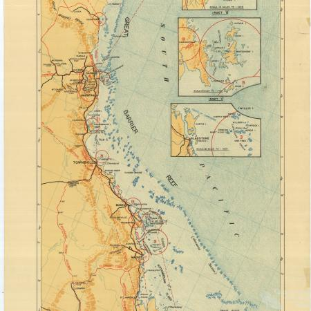 Tourist Map, Barrier Reef and coastal districts, 1947